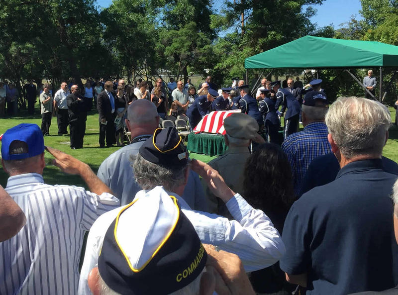 A memorial service for Doolittle Raider David J. Thatcher of Missoula in June, 2016.