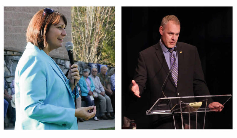 Democrat Denise Juneau and Republican Ryan Zinke