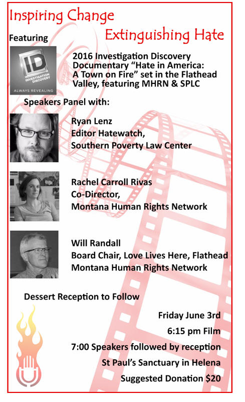 """A Town on Fire"" screening and panel discussion Friday, June 3, in Helena."
