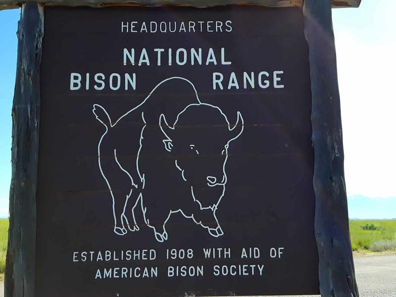 A sign at the National Bison Range in northwest Montana.