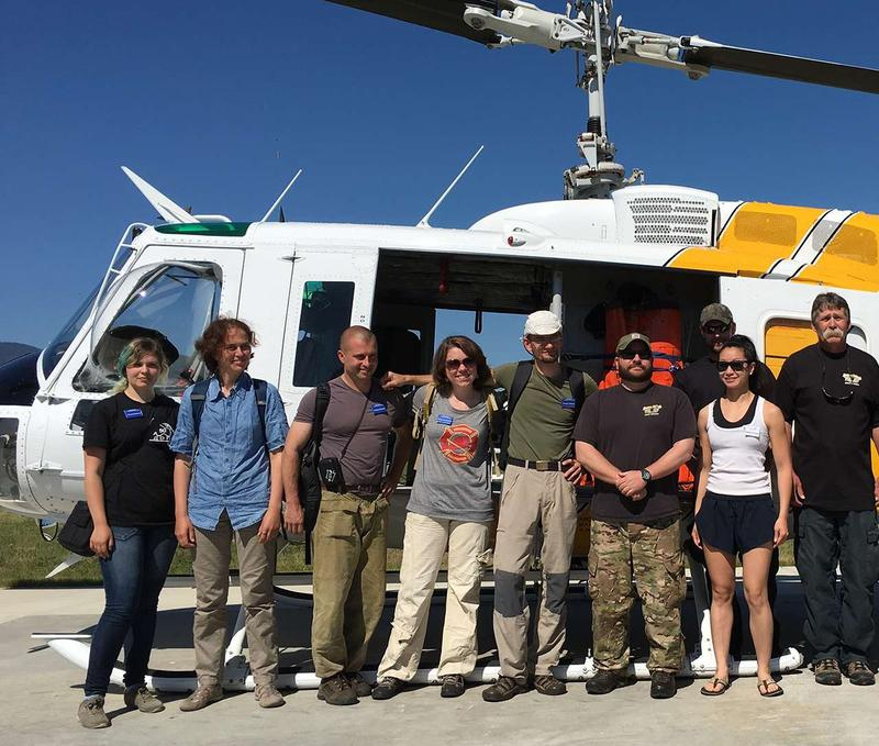 Greenpeace Russia volunteer Sofia Kosacheva (4th from left) and Grigoriy Kuksin, head of Greenpeace Russia's Fire-Protection (3rd from left) spent part of Monday with Montana Department of Natural Resources and Conservation staff in Missoula.