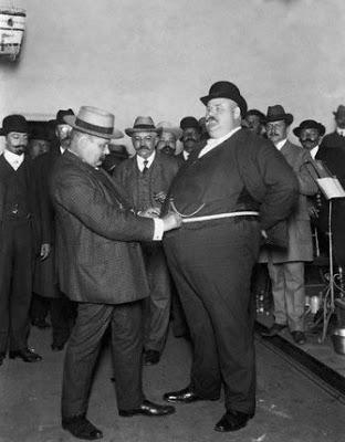 "A fat men's club's ""Fat Man's Contest,"" c. 1900"