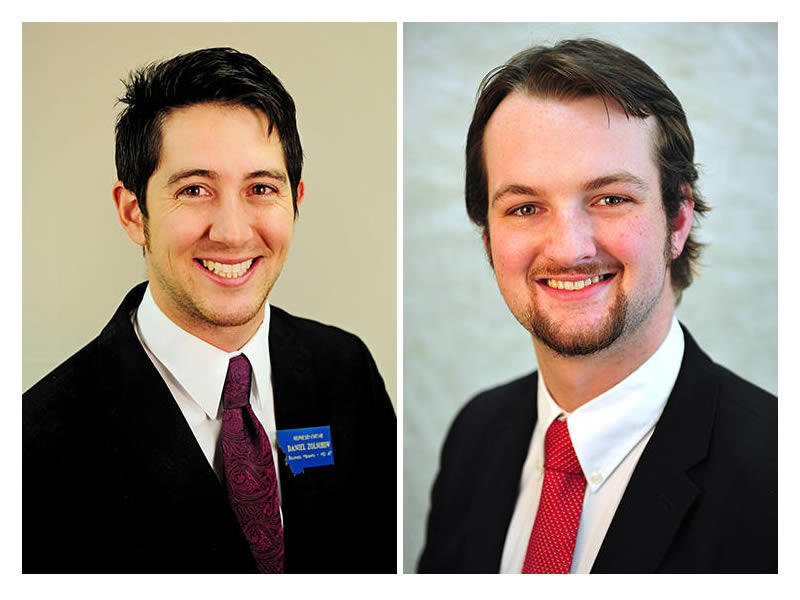 Left: Daniel Zolnikov (R) HD 45, right: Nicholas Schwaderer (R) HD 14