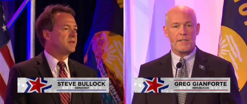 Democratic Governor Steve Bullock and Republican challenger Greg Gianforte today each accepted invitations to one live debate on TV, but they disagree on the specific details of two more.