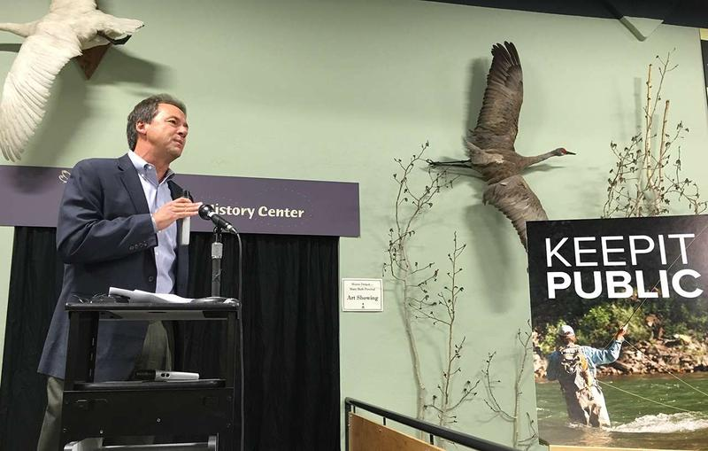 Governor Bullock told a crowd at the Center Natural History Museum in Missoula July 11, that he is he is committed to strengthening Montana's outdoor recreation and tourism industries.
