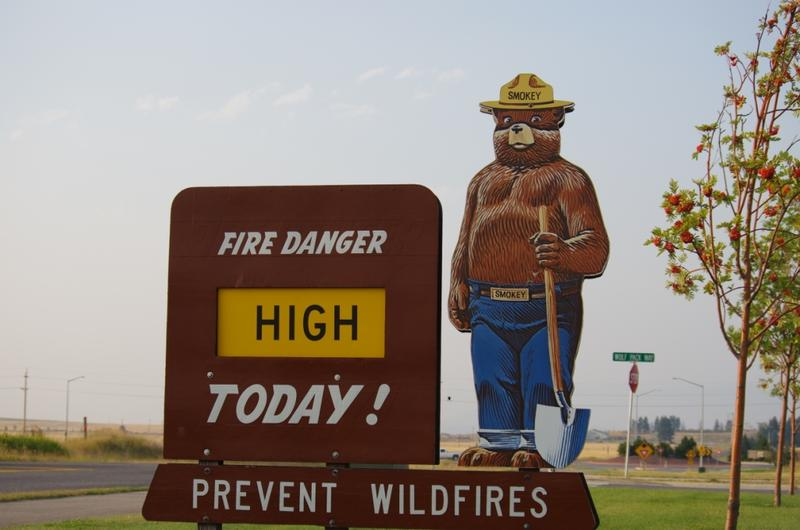 "Missoula County's fire danger bumped up a notch Monday from ""moderate"" to ""high."""