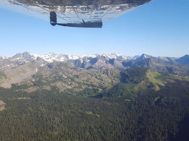 A bird's eye view of the southern reaches of the Bob Marshall Wilderness.
