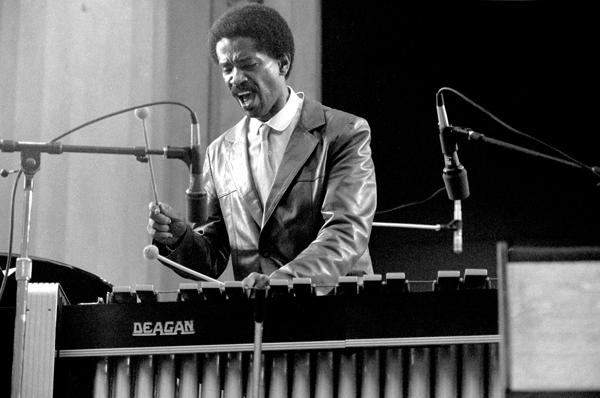 Vibraphonist Bobby Hutcherson, performing at the Berkeley (CA) Jazz Festival in 1982.