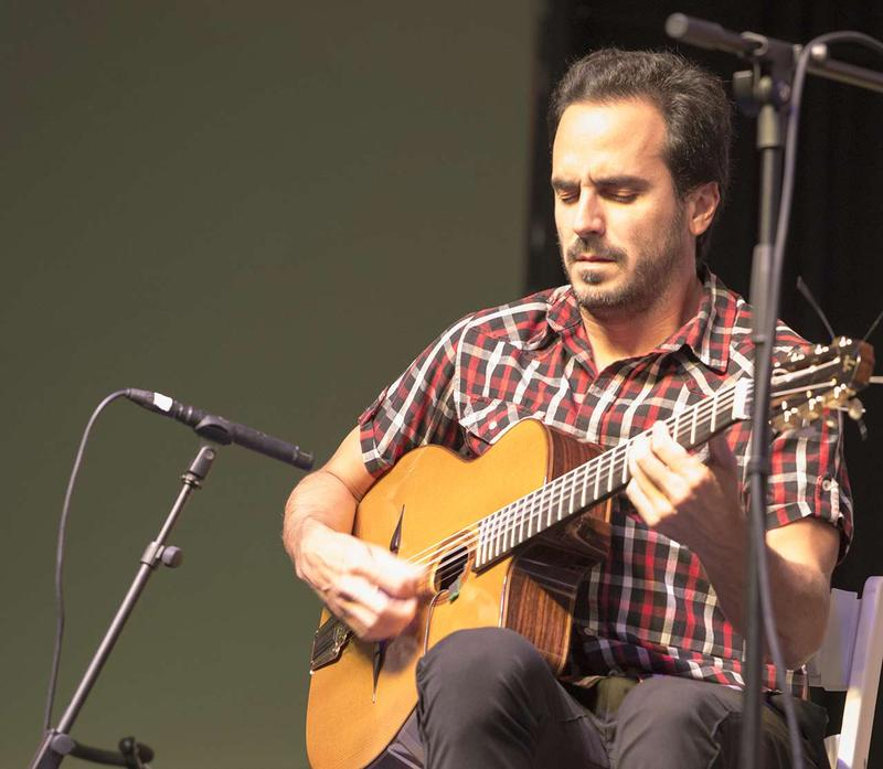 Guitarist Gonzalo Bergara presented his own mix of sounds from Paris and his native Argentina, to music fans from far and wide that visited the 7th Annual Crown of the Continent Guitar Festival in Bigfork, Montana August 29, 2016.