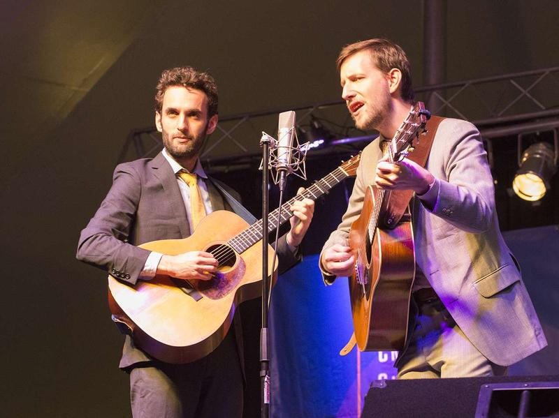 Julian Lage and Chris Eldridge performed for nearly two hours for the crowd at the 7th Annual Crown of the Continent Guitar Festival in Bigfork, Montana August 29, 2016.