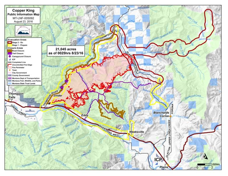 Montana Wildfire Roundup For August MTPR - Mt map