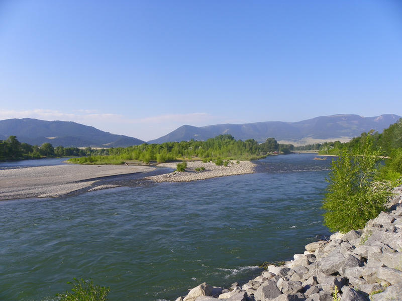 The Yellowstone River from Livingston, MT.
