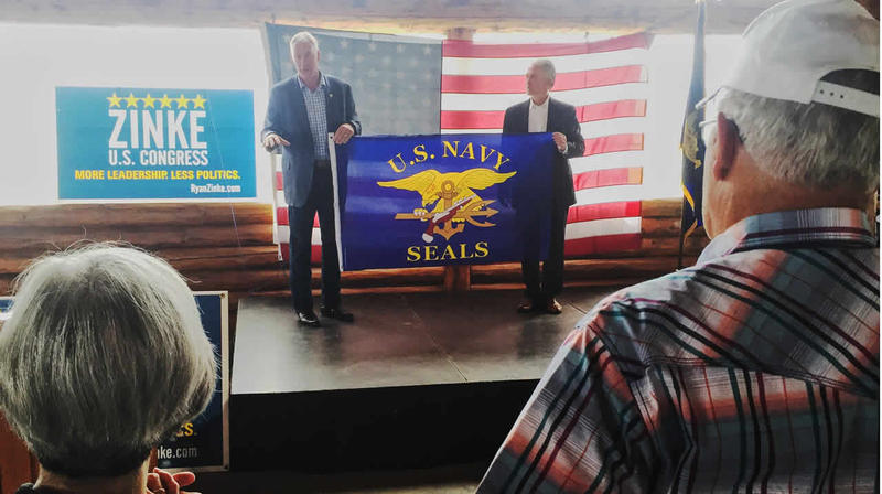 Montana Rep. Ryan Zinke and South Carolina Rep. Trey Gowdy campaign in Kalispell on Tuesday, August 9 2016.