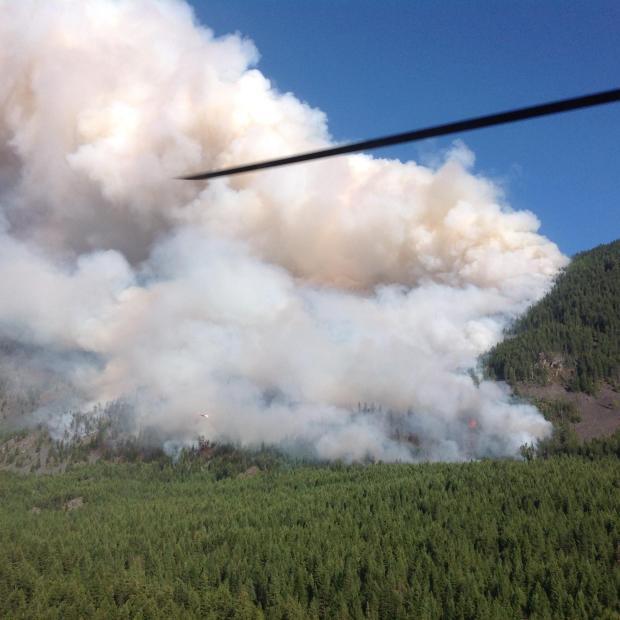 Copper King fire near Thompson Falls, 08/01/16.