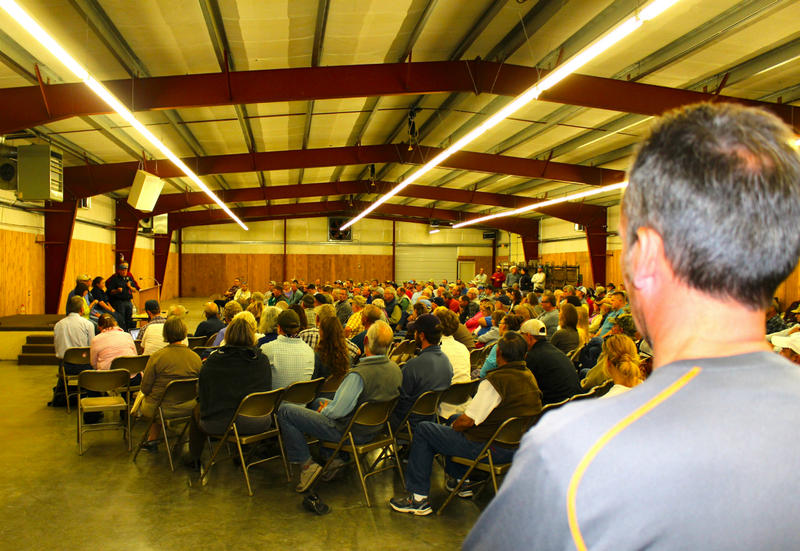 About 400 people came to a hall at the Park County Fairgrounds in Livingston to learn more about the Yellowstone River fish kill
