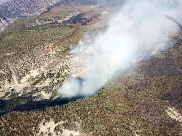 Aerial photo of the Roaring Lion Fire in the Ward Bowl area on August 17, 2016