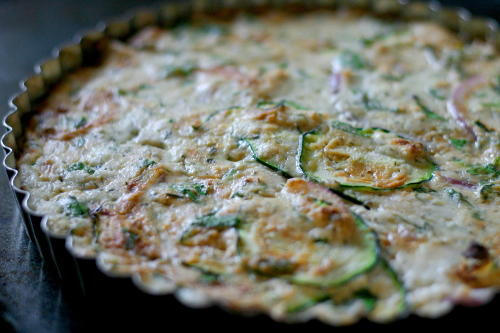 Herbed Zucchini, Summer Squash and Ricotta Tart