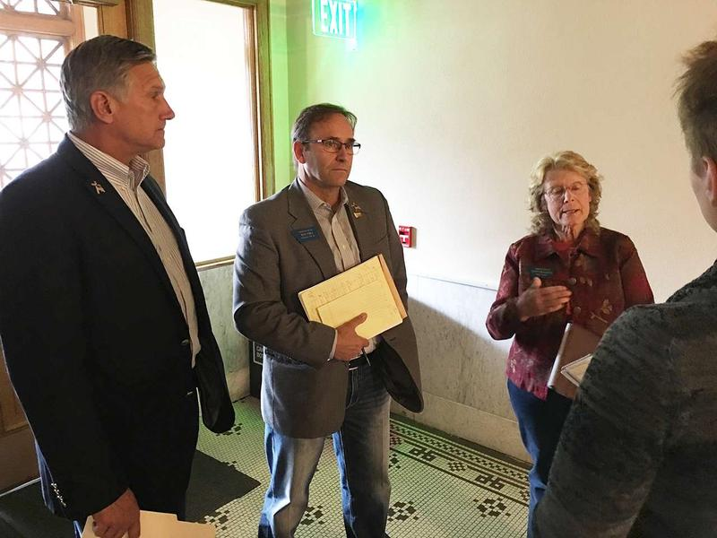 Republican Representatives Brad Tschida, Ron Ehli, and Nancy Ballance.