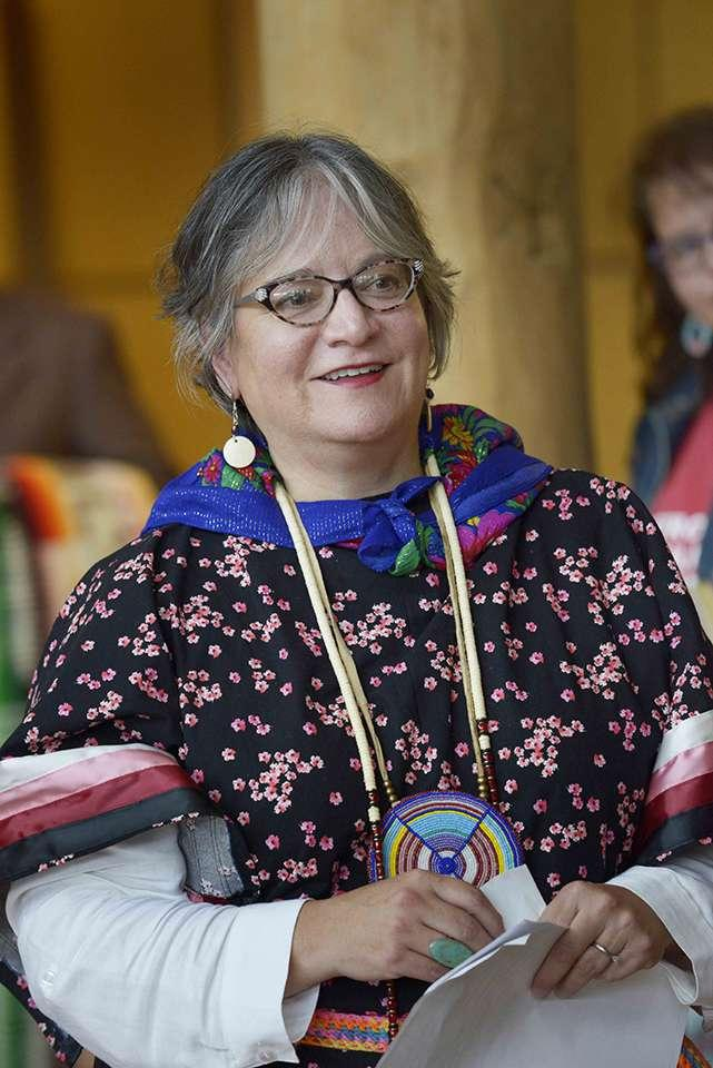 Debra Magpie Earling at an honoring ceremony in the Payne Family Native American Center on the University's Missoula campus, September 21, 2016.