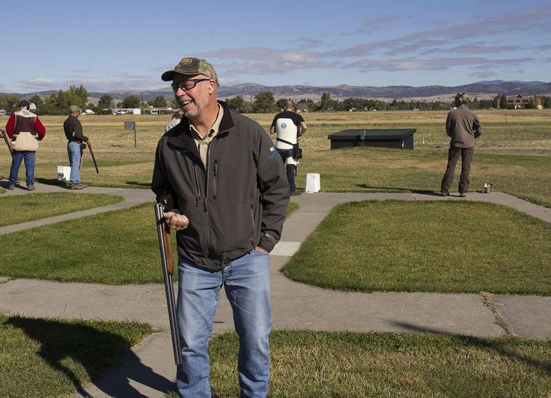 Republican gubernatorial candidate Greg Gianforte shoots a few dozen rounds during a campaign stop at the Helena Trap Club Tuesday, September 12, 2016.