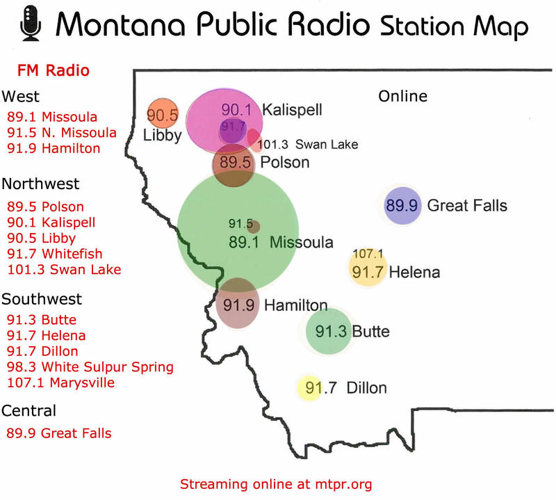 Montana Public Radio Station Map
