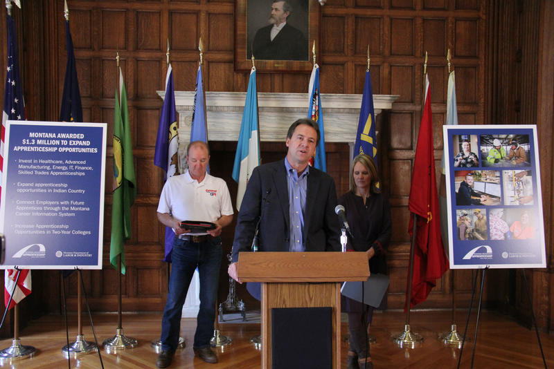 Governor Bullock announced a $1.3 million grant from the U.S. Department of Labor to expand Montana's Registered Apprenticeship program.