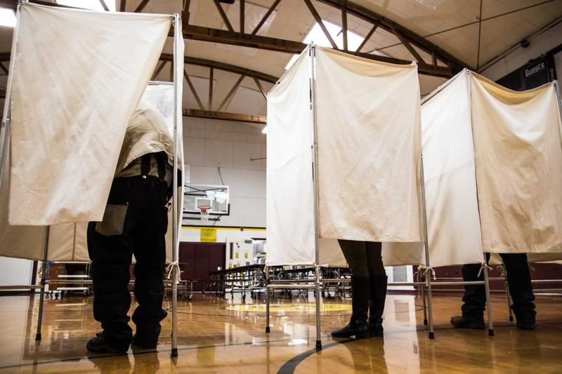 Voters in Clinton, MT cast ballots during the 2016 elections.