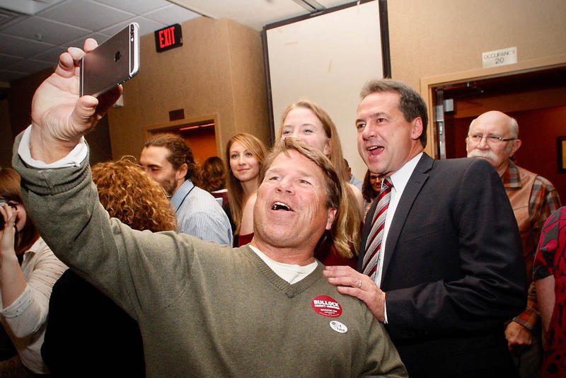 Supporters taking pics with Governor Bullock.