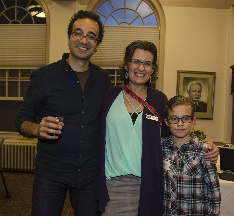 Radiolab's Jad Abumrad with fans during a meet & greet before his Oct. 23 talk in Missoula.