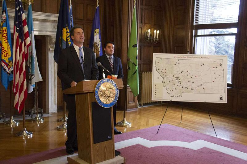 Governor Bullock, with Budget Director Dan Villa. Governor Bullock released his revenue and spending plan Nov. 15 at the Capitol in Helena.