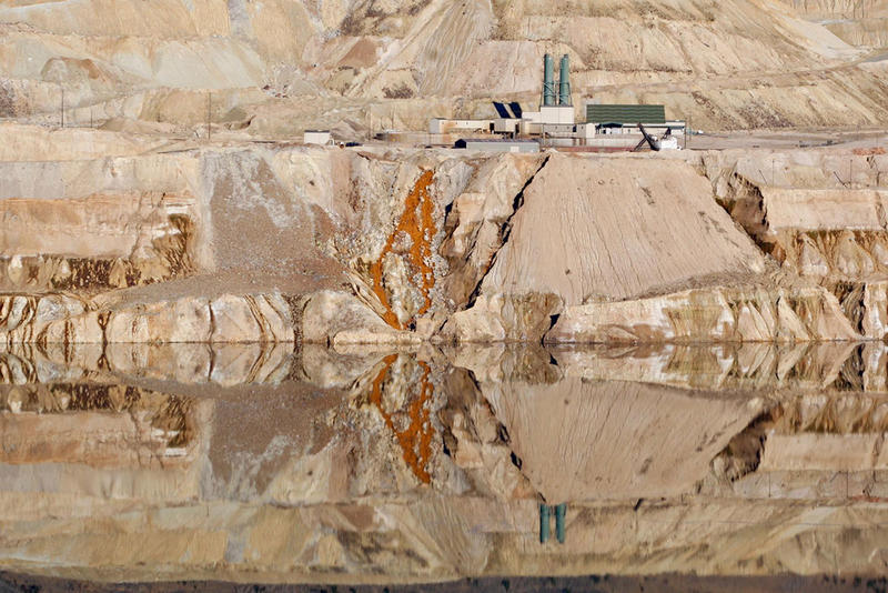 The Berkeley Pit in Butte, Montana, where thousands of migrating geese died this week.