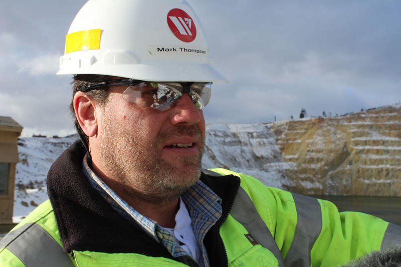 Mark Thompson, environmental affairs manager for Montana Resources, standing above the Berkeley Pit.