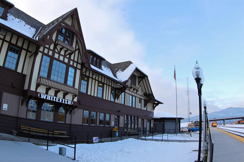 Whitefish, MT rail depot.