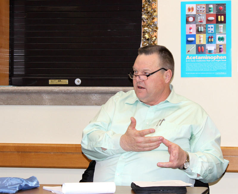 Senator Jon Tester at the Confederated Salish and Kootenai Tribes Health Department Saturday