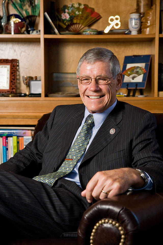 The University of Montana's longest serving president, George Dennison, died Tuesday morning.