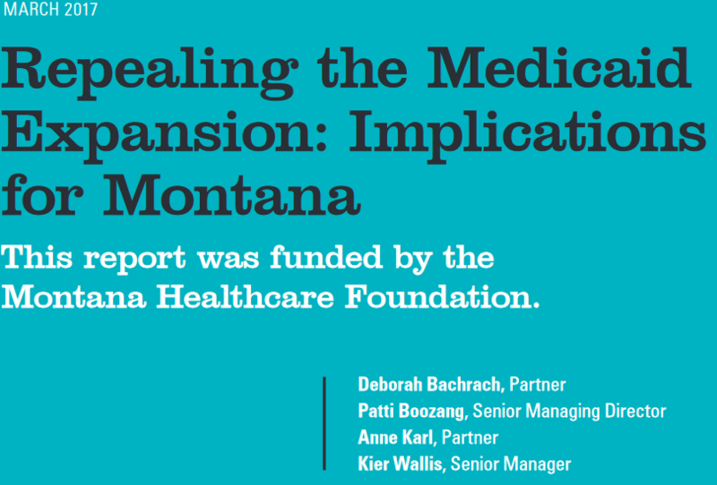 A new report says Montana stands to lose more than $284 million in healthcare funding if Congress repeals the Medicaid expansion that's part of the Affordable Care Act.