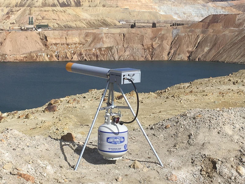 Berkeley Pit bird cannon, Butte, MT