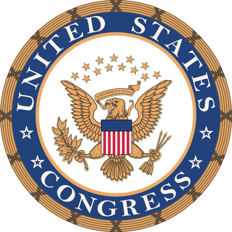 Seal of the U.S. Congress.