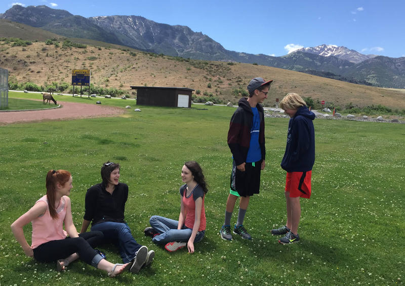 Students in Gardiner, MT share their schoolyard with wildlife, including elk and bison.