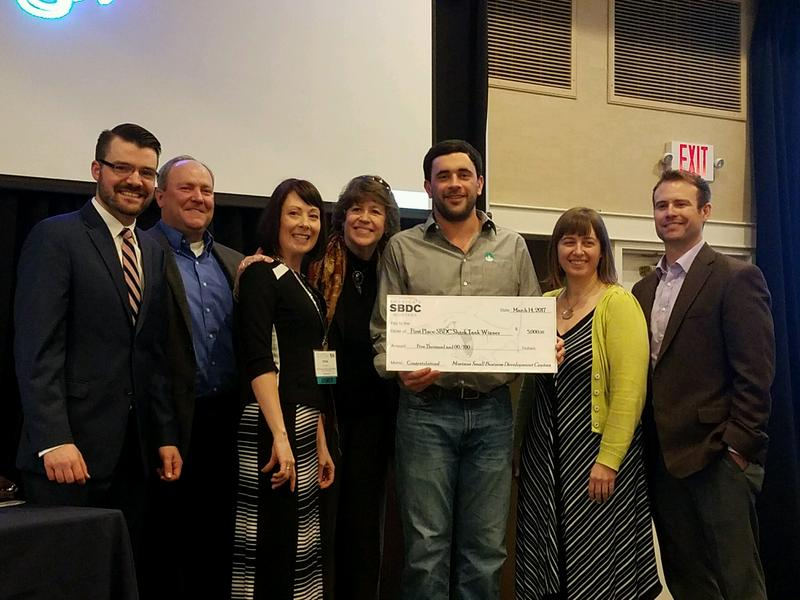 Evan Tipton, a University of Montana graduate student won first place in the Montana Small Business Development Center Shark Tank competition.