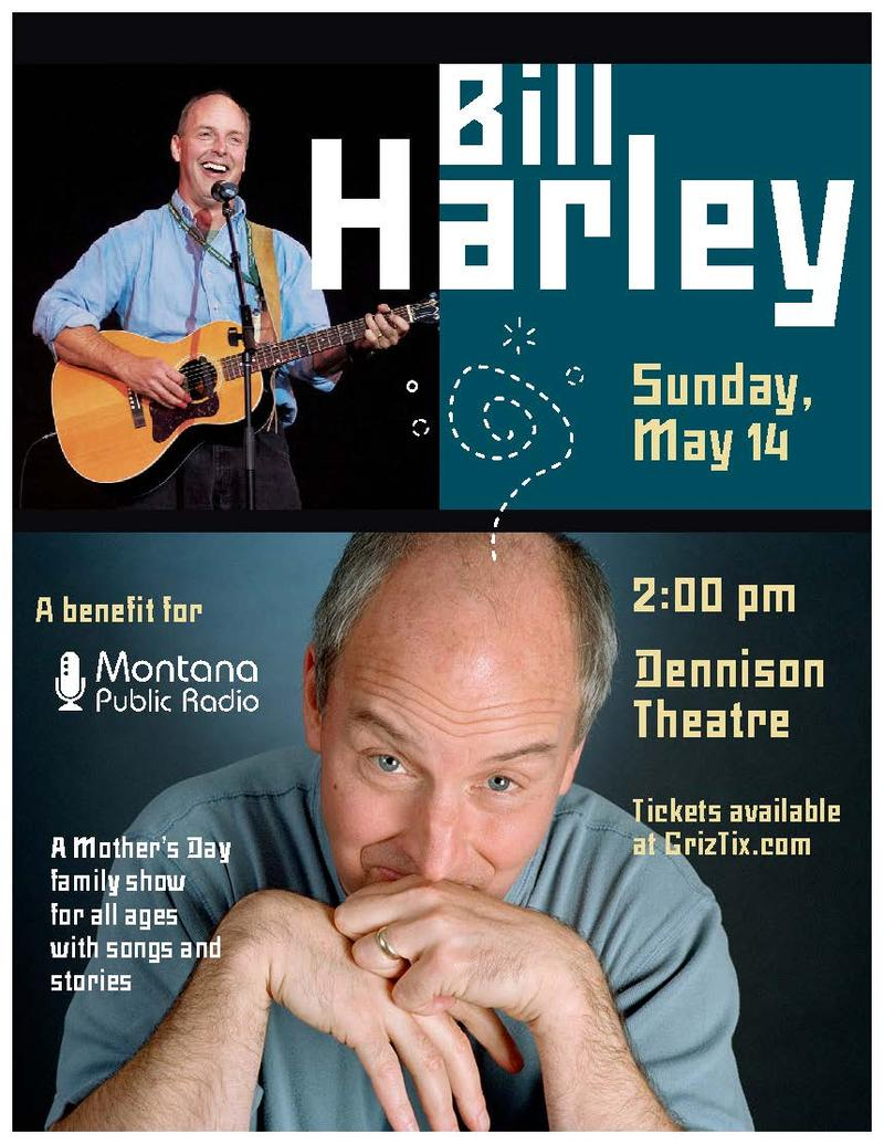 Bill Harley is coming back to Missoula for a May 14 show.