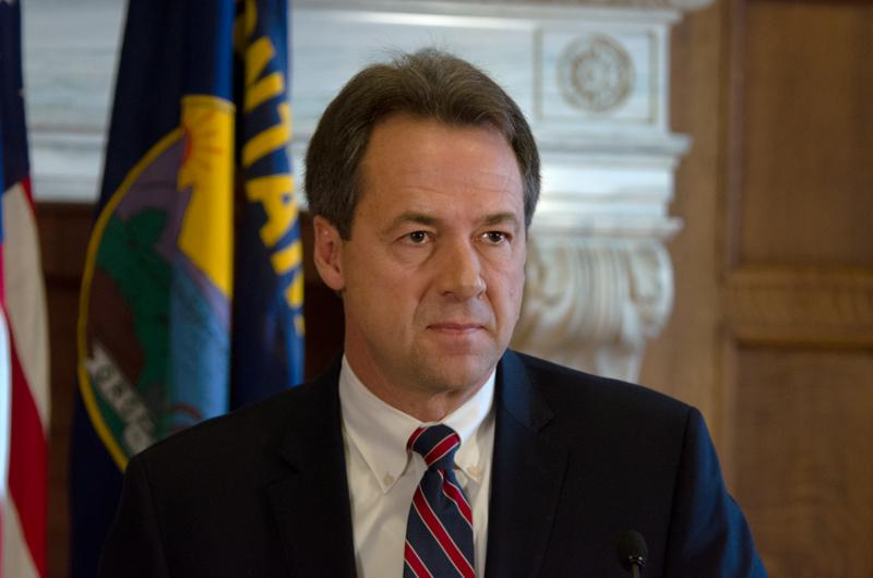 Gov. Steve Bullock reacts to failure of bonding bill during a press conference at the Capitol, April 28, 2017.