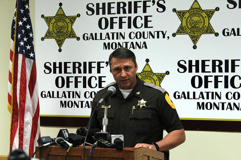 Gallatin County Sheriff Brian Gootkin speaks during a press conference on the Gianforte assault in Bozeman, May 25, 2017.
