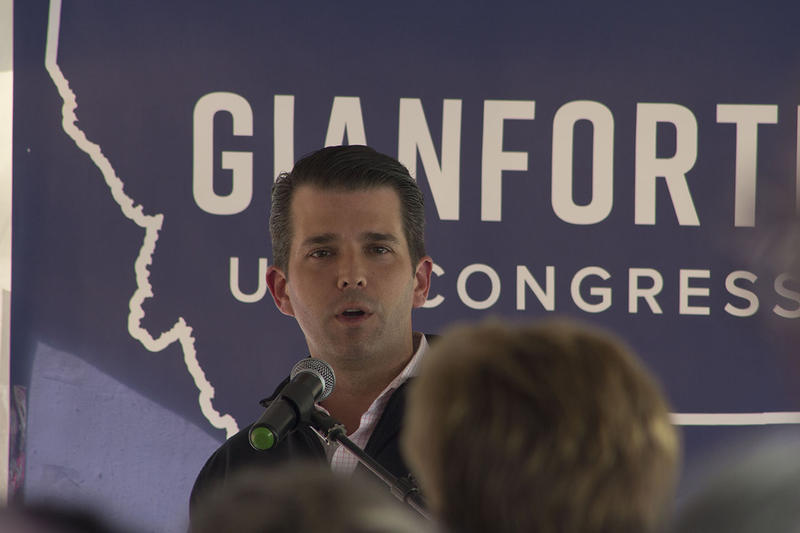 Donald Trump Jr. returned to Montana on May 11, 2018 to rally supporters for U.S. House candidate Greg Gianforte in Butte, Montana.