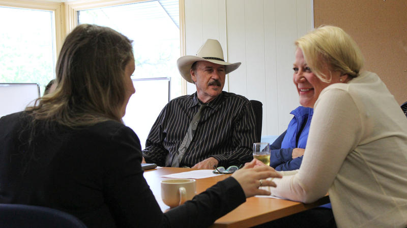 Rob Quist held a roundtable on women's health with current and former state lawmakers in Missoula, May 12, 2017.