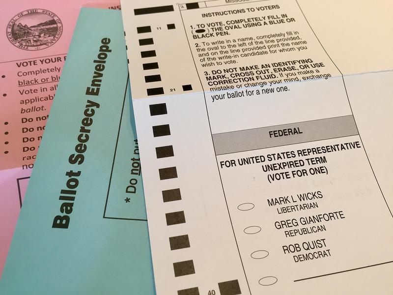 Montana absentee ballot.