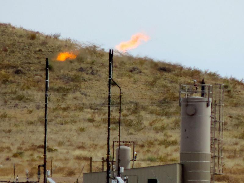 Methane flaring.
