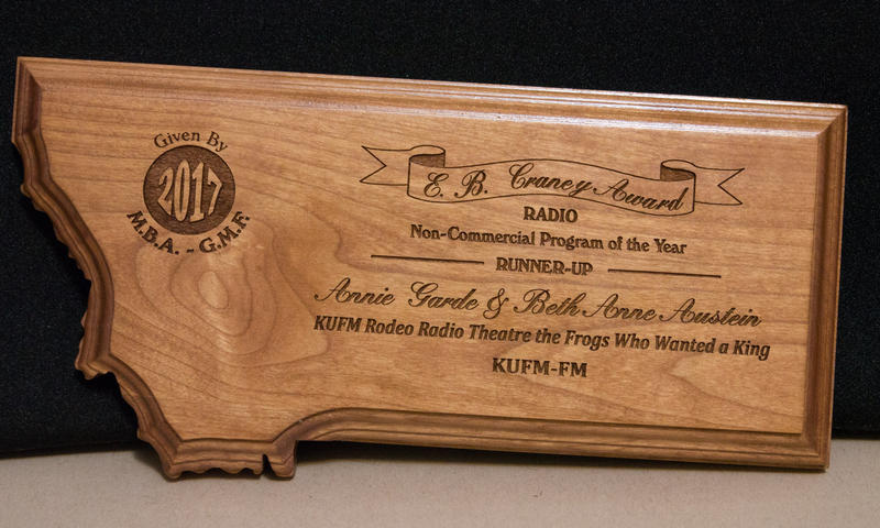 MTPR's Rodeo Radio Theatre was named runner up for non-commercial radio program of the year.