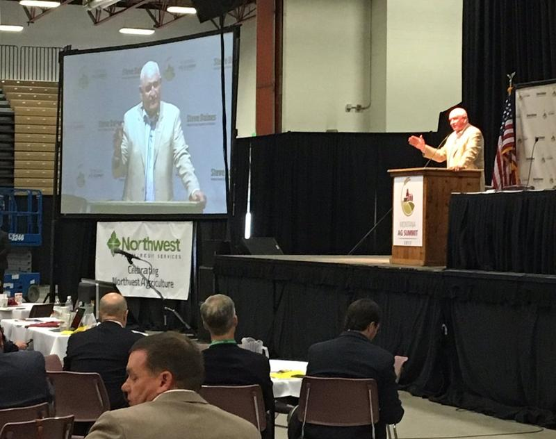 U.S. Secretary of Agriculture Sonny Perdue speaks during an agriculture conference in Great Falls, MT, June 1, 2017.