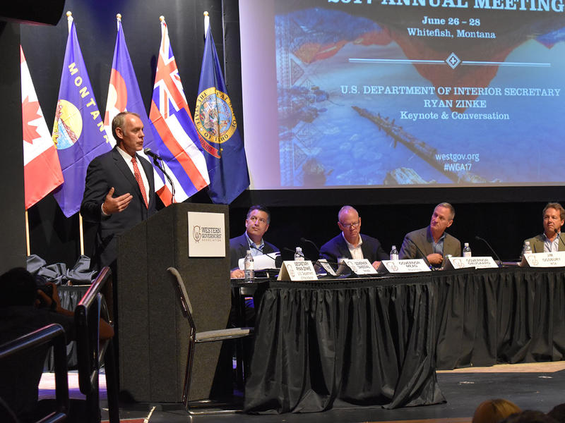 Secretary of the Interior Ryan Zinke visited his hometown in Whitefish June, 27, 2017 to address the Western Governors Association.